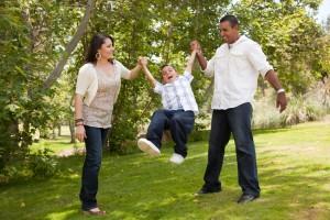 Family in Park-